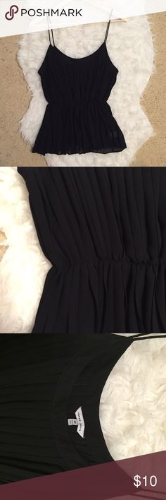 BLack Tank Top Naked zebra black sheer tank. Bunches at high at the waist. Only worn a few times. Naked Zebra Tops