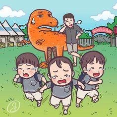 """run... run... for your life! "" #DaehanMingukManse #송대한 #송민국 #송만세 #대한민국만세#SongIlKook #송일국 #TeamDaehanMingukManse #TeamSongIlKook"