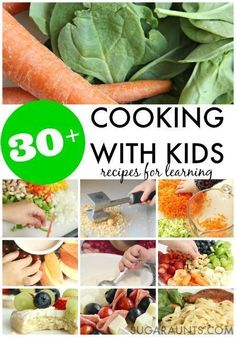 Cooking With Kids recipes for learning in the kitchen. So many healthy meal ideas on this site that kids can make and learn while cooking. Cooking with Kids kids cooking Recipes Kids Can Make, Kids Cooking Recipes, Cooking Classes For Kids, Easy Cooking, Healthy Cooking, Kids Meals, Healthy Snacks, Healthy Eating, Healthy Recipes