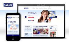 Entwicklung eines redaktionellen Online Magazins als Wordpress Blog für Labello. Online Magazine, Website Designs, Blog Design, Filters, Wordpress, Marketing, Lips, Design Websites, Website Layout