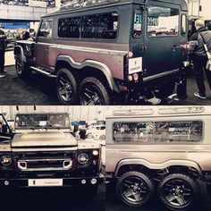 Kahn Design Huntsman Concept 6x6 Land Rover Defender based with a 6.2 Liter Engine made by GM with 430 HP #KahnDesign #Huntsman #ConceptCar #LandRover #6x6 #Defender #DefendDefender #TheMotorist #Offroad #GM www.the-motorische.com