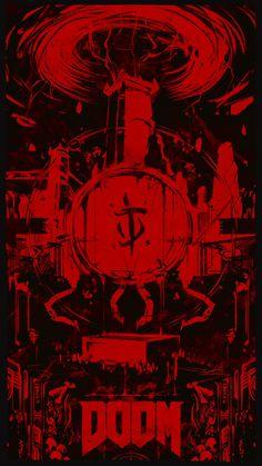 DOOM Triptych for Noclip, aurahack ✨ Doom 4, Doom Game, Goblin, Doom 2016, Black Wallpaper, Triptych, Star Wars Art, Anime Art Girl, Dark Art