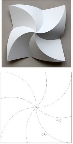 Reconstructing David Huffman's Legacy in Curved-Crease Folding Paper Folding Designs, Paper Folding Art, 3d Paper Art, Origami Wall Art, Paper Crafts Origami, Cardboard Crafts, Origami Templates, Origami Patterns, Box Templates