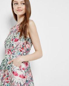 Layered Bouquet skater dress - Cream | Dresses | Ted Baker UK
