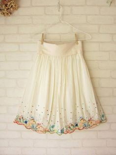pretty embroidery skirt, franche lippee