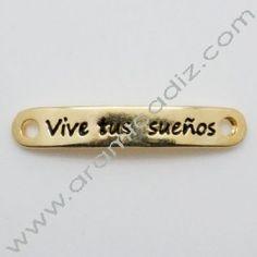 O77299-40 / Plaquita: VIVE TUS SUEÑOS oro. Unid.