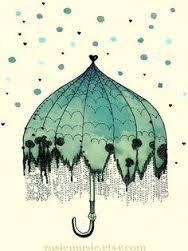Resultado de imagem para guarda chuva ilustraçao tumblr
