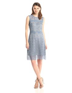 Ophelia Floral Lace Flared Dress by ELIE TAHARI