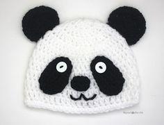 Free pattern Newborn through adult Repeat Crafter Me: Crochet Panda Bear Hat Crochet Beanie Hat Free Pattern, Crochet Baby Bonnet, Crochet Baby Beanie, Crochet Kids Hats, Baby Girl Crochet, Crochet Patterns Amigurumi, Crochet Panda, Crochet Gratis, Crochet Geek