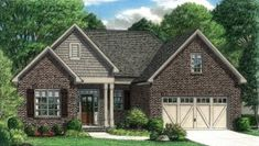 Highland – Stephen Davis Home Designs Pole Barn House Plans, Pole Barn Homes, Ranch House Plans, Best House Plans, Small House Plans, House Floor Plans, Highland Homes, Country Style House Plans, Cottage Homes