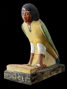 Statue of the ba of Yuya from the Tomb of Yuya and Tuya KV46 Valley of the Kings. New Kingdom 18th Dynasty c. 1390 BC. [450x600]