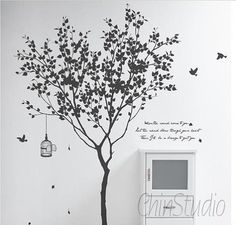 Tree Wall Decals Wall StickersLiving room wall by ChinStudio