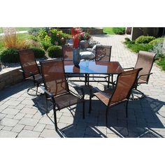 Outdoor Innovation Cambria 7 Piece Dining Set