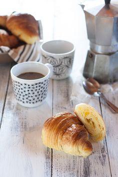 cornetti e caffellatte #colazione | italian cornetti and coffee with milk #breakfast