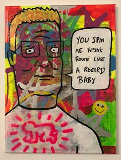 Spin me round by Barrie J Davies 2020 University Of Wales, Brighton England, Fine Arts Degree, Human Condition, Mixed Media Canvas, Art Paintings, Psychedelic, Spinning