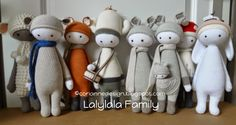 lalylala family made by coriannedesign / crochet patterns by lalylala