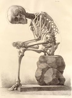 "Don't know why I love skeletons. This one has personality! (-:  Forget ""The Thinker."" How about ""Sore Feet"" instead."