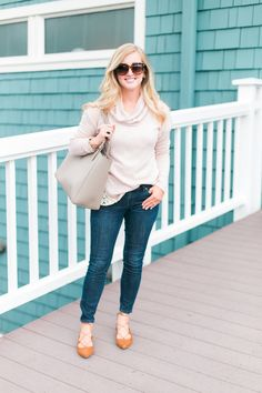 Style Tip: Cozy Up In Cowl Neck Sweaters