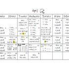 April Homework for Kindergarten
