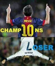 Messi vs Ronaldo<----- YAAAAWWWW THATS RIGHT!<------ only REAL football players know that Messi is better than Ronaldo.i am not even a huge football fan ,I just can't stand Rolando lmao Messi Neymar Suarez, Cr7 Vs Messi, Messi Fans, Messi Soccer, Lionel Messi Vs Ronaldo, Lionel Messi Quotes, Soccer Referee, Ronaldo Football, Ronaldo Juventus