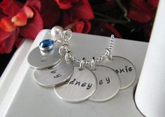 Stainless Steel Charms 5 Disc 5/8 Layer Hand by StampedByTheHeart, $45.00