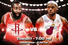 Coming off a historic 61 point game it will be interesting to see what the LeBron James will do tonight, especially seeing as the Heat face one of the hottest teams in the Houston Rockets. You know James Harden and Dwight Howard will bring their A game to prevent the King from having another monster night.   No doubt this will be an epic matchup!