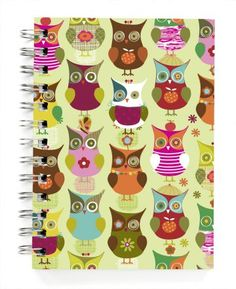 Owls green journal. Ecojot. I love everything Ecojot...but this is one of my faves.