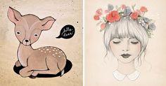 Las ilustraciones adorables de Kelli Murray #KelliMurray #ilustracion #ninos #EEUU #illustration #children #kids #USA