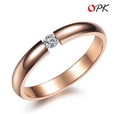 Ring O Crystal the ring Rose Gold Plated Channel Setting Stainless Steel Bijouterie Bague Anel Wedding rings Spring 2014 New Colored Engagement Rings, Engagement Jewelry, Vintage Engagement Rings, Wedding Engagement, Womens Wedding Bands, Wedding Rings For Women, Ring Rosegold, Expensive Jewelry, Ring Designs