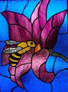 Bee On A Flower - Delphi Artist Gallery