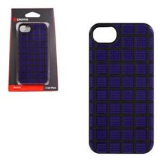 MeshUps Case for iPhone 5/5s - Retail Packaging- Black/Purple. Protective case of 2 cool materials in a co-molded grid design. Rigid shatterproof polycarbonate to shrug off impacts. Resilient silicone for flexibility and grip.