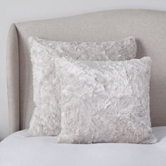 Textured Faux Fur Collection | Cushions, Bedspreads & Throws | Bedroom | The White Company UK