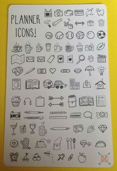 Cute little planner icons for the bullet journal