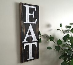 Rustic Wall Decor - Eat Sign - https://www.etsy.com/shop/BeautifyMyHouseShop
