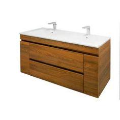 meuble sous vasque 110 cm cordoue meuble salle de bain bois noyer ...