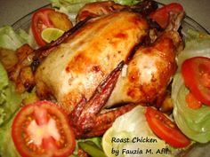 Nothing more heart-warming than the smell of home-made roast chicken. Here is a simple recipe that gives excellent results...moist and tender chicken that's very flavourful.