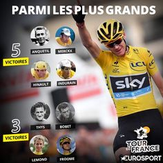 Infographie Chris Froome 3 victoires