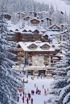 The Alps... Winter wonderland - This could be a great vacation place... :)