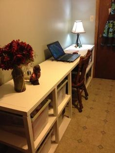 supersized parsons tower desk do it yourself home projects from ana white ana white completed eco office desk