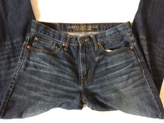 AMERICAN EAGLE ~ Mens RELAXED STRAIGHT Blue Jeans ~ Sz 32/34  | eBay
