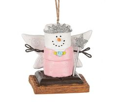 S'mores Original Fairy Angel smore ornament.