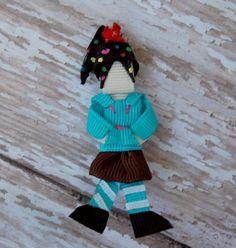 """Wreck It Ralph -  Vanellope Von Schweets """"Original"""" Hair Bow Clip Sculpture"""