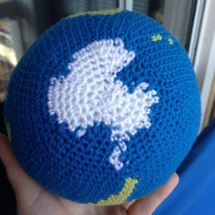 THIS LISTING IS FOR A PDF CROCHET PATTERN, NOT THE FINISHED PRODUCT!  You can have the whole world in your hands with this one-of-a-kind world crochet pattern from KaperCrochet! This pattern includes detailed instructions in US terminology for making your very own crocheted globe. *The globe pictured was made using worsted weight yarn and a 3.5mm crochet hook. *The final product is around 7 inches in diameter depending on your yarn and hook size. *The pattern includes a picture tutorial for…