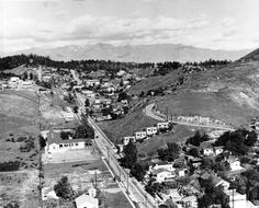 1951 view of Chavez Ravine. Courtesy of the Photo Collection, Los Angeles Public Library.