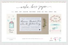Beautiful lettering! I particularly love the floral border on top   amelialanepaper.co.uk