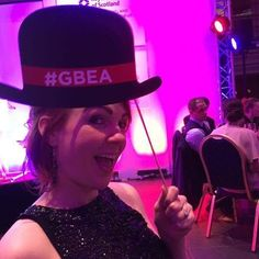 """Hats off!"" To all the nominees this evening at the #GBEA ... . #gbeaedinburgh #selfiemode"