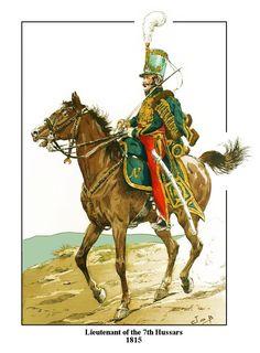 Lieutenant 7th Hussars 1815, by JOB (Jacques Onfroy de Breville).