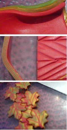 Joan Tayler Design: Leaf Veins via easy mokume gane.  #Polymer #Clay #Tutorials
