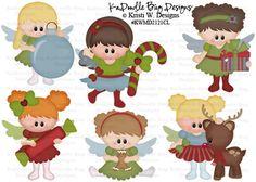 Christmas Fairies  Original Artwork by Kristi W Designs  www.kadoodlebugdesigns.com