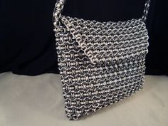 Silver and Black Chainmail Purse Handbag Clutch Pocketbook Pouch One of a Kind on Etsy, $300.00